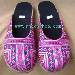 รองเท้าผ้าแม้ว รุ่นหุ้มหัว สีม่วง