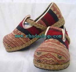 รองเท้าลำลองคาดปอ ผ้านากา-4