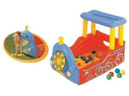 เป่าลม Train Play Center +ลูกบอล 50 ลูก