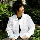 เสื้อแจ็คเก็ตสีขาว D001