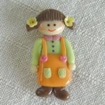 โมเดลตุ๊กตาเด็กหญิงสวมชุดเอี้ยมติดแม่เหล็ก 0 00 00 003 5173