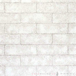 วอลเปเปอร์สติ๊กเกอร์ PVC ลายอิฐมอญสีขาว DBS-15