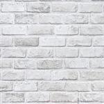 วอลเปเปอร์สติ๊กเกอร์ PVC ลายอิฐบล็อกขาว KMP4011
