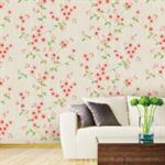 วอลเปเปอร์สติ๊กเกอร์ ลายดอกไม้สีโอลโรส HDG-12028