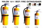 ถังดับเพลิงชนิดน้ำยาเหลวระเหย  BCF (Halon 1211)