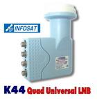 ชุดจานดาวเทียม Band INFOSAT Universal 4output