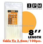 สายรัด Nylon Cable Tie IPM สีขาว ยาว 8 นิ้ว