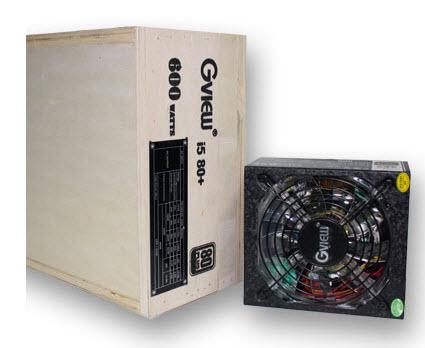 พาวเวอร์ซัพพลาย Gview Power Supply i5 80+ 600 W