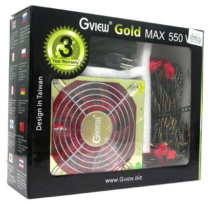 พาวเวอร์ซัพพลาย GviewGold MAX 550W PowerSupply