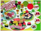 ของเล่นชุดแป้งโดว์ 8 กระปุก มีเซตอุปกรณ์ พิมพ์รูปซูชิ (Sushi)