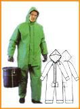 ชุดป้องกันสารเคมีแบบชุดหมี สีเขียว
