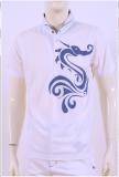 เสื้อ Polo shirt SD-116 White-Navy