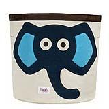 ถังผ้าเก็บของเล่น ช้างสีน้ำเงิน