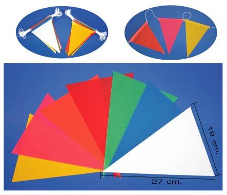 ธงราวสามเหลี่ยม 7 สี