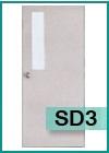 ประตูเหล็กแบบช่องกระจก SD3