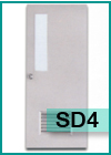 ประตูเหล็กแบบช่องกระจกและบานเกล็ด SD4