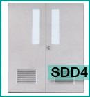 ประตูเหล็กแบบช่องกระจกและบานเกล็ด SDD4