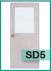 ประตูเหล็กแบบช่องกระจกและบานเกล็ด SD5