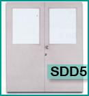 ประตูเหล็กแบบช่องกระจกและบานเกล็ด SDD5