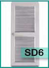 ประตูเหล็กแบบบานเกล็ดทั้งบาน SD6