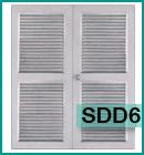 ประตูเหล็กแบบบานเกล็ดทั้งบาน SDD6