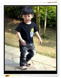เสื้อเด็กคอกลมอมยิ้ม Fun สีดำ