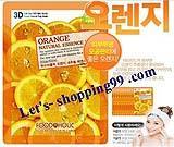 แผ่นมาร์คหน้า-FOODAHOLIC 3D Mask Orange 23 g.