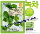 แผ่นมาร์คหน้า-FOODAHOLIC 3D Mask Green tea 23 g.
