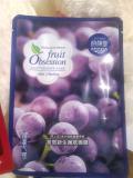 แผ่นมาร์คหน้า-Fruit Obsession skin newborn Grape mask