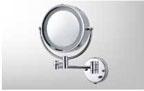 กระจกส่องหน้า พร้อมไฟ 2 ด้าน สแตนเลส (MS304-14)