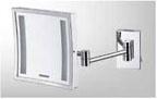 กระจกส่อง หน้าสแตนเลส พร้อมไฟ LED (MS304-16)