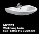 อ่างติดผนัง ในห้องน้ำ(MC223)