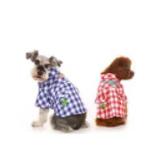 ชุดแฟนซีสุนัข Clover Grid Shirt รหัส- Sht001