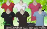 บริการผลิตเสื้อยืดคอวีGDT008