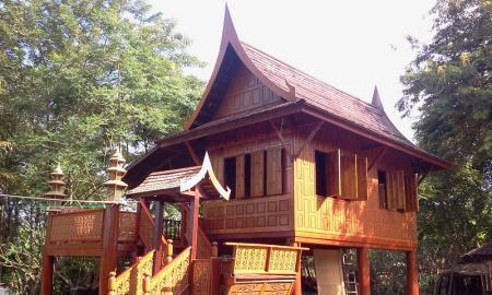 บ้านน็อคดาวน์ ซุ้มไม้ บ้านเรือนไทย 008