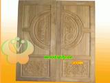 ประตูไม้สัก บานคู่  01