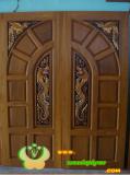 ประตูไม้สัก บานคู่  09