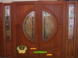 ประตูไม้สัก บานคู่  13