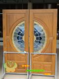 ประตูไม้สัก บานคู่  16