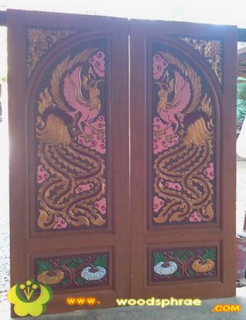 ประตูไม้สัก บานคู่ 34