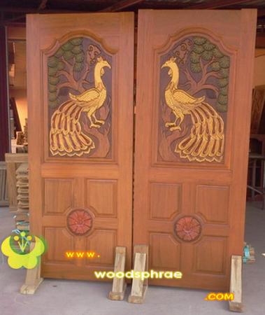 ประตูไม้สัก บานคู่ 36