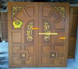 ประตูไม้สัก บานคู่ 45