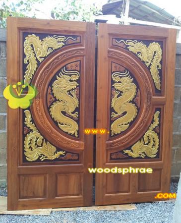 ประตูไม้สัก บานคู่ 50