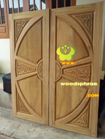 ประตูไม้สัก บานคู่ 54