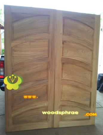 ประตูไม้สัก บานคู่ 60