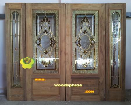 ประตูไม้สัก บานคู่ 61