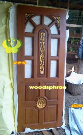 ประตูไม้สัก บานเดี่ยว 01