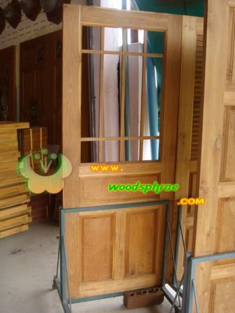 ประตูไม้สัก บานเดี่ยว 19