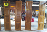 ประตูบานเฟี้ยม ไม้สักทอง 02
