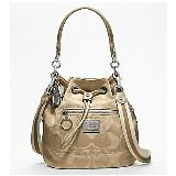 COACH POPPY SIGNATURE SATEEN CINCH TOTE 18354